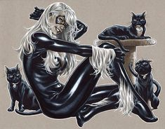 Friday The Black Cat Art Gallery Comic Book Artists, Comic Book Characters, Comic Character, Comic Books Art, Comic Art, Marvel Girls, Comics Girls, Marvel Art, Marvel Heroes