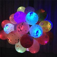 Vova   5Pcs Light Balloons Birthday Party Wedding Decor Decoration Baby Kids Toys Neon Party Invitations, Birthday Balloons, Birthday Parties, Led Balloons, Party Wedding, Easter Eggs, Kids Toys, Baby Kids, Wedding Decorations