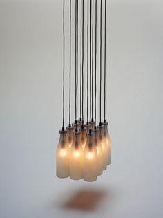 Design & Muito Mais: Luminária de garrafa de leite