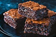 Kirsten Tibbles' (Queen of chocolate) brownies - are perfect to eat on their own, or you can eat them warm with a scoop of vanilla ice cream and a drizzle of salted caramel. They will keep in the freezer for up to 1 month when wrapped well in plastic wrap, says Kirsten.