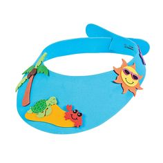 Wear a fun foam visor to the beach! Makes All craft kit pieces are pre-packaged for individual use. Kits include instructions and extra pieces. Vbs Crafts, Camping Crafts, Rock Crafts, Crafts To Make, Crafts For Kids, Camping Tips, Arts And Crafts Storage, Craft Storage, Summer Crafts
