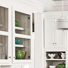 Creative Kitchen Cabinet Ideas: Chicken Wire Cabinets