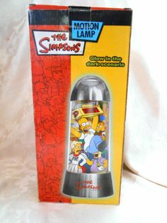 The Simpsons Moe's Tavern Glow In The Dark Rotating Motion Lamp