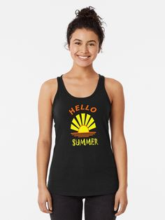 Summer Tank Top 50th Birthday Gifts For Woman, 40th Birthday, Sup Stand Up Paddle, Cute Black Cats, Womens Sleeveless Tops, Groundhog Day, Racerback Tank Top, Cover, Chiffon Tops
