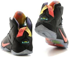 reputable site 0b23c 398c6 Lebron 12 Womens Black Orange0