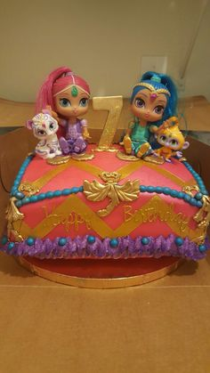 Shimmer and shine birthday cake by Monique Salazar