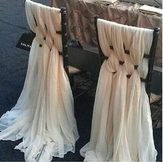 Chair drapes♥ wedding ideas