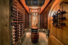 Log Cabin mediterranean wine cellar
