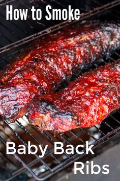 Smoked Meat Recipes, Rib Recipes, Vegan Recipes Easy, Steak Recipes, Dinner Recipes, Grilled Baby Back Ribs, Bbq Baby Back Ribs, Smoking Baby Back Ribs, Ribs On Grill