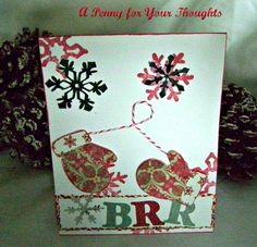 Brr Handmade Christmas Card  | APENNY4URTHOUGHTS - Cards on ArtFire