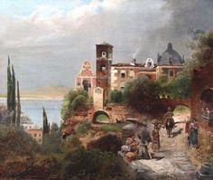 Southern Italian Landscape   Robert Alott  1850-1910