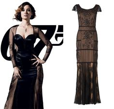 Bond Girl Séverine in Skyfall, 2012. Get the look with the Collection 8 Petra Lace Beaded Maxi Dress by Phase Eight