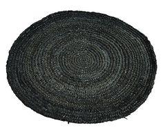 Sousplat Espiral Preto - 35cm