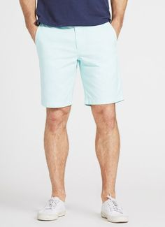 Washed Chino Short - Sky - 9 in