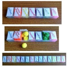 Learning Place Value with Pompoms and Pill Boxes. come learn how to make this multisensory activity! I will replace the pompoms with dice. Math Place Value, Place Values, Math Resources, Math Activities, Fractions, Learning Place, Learning Colors, Fourth Grade Math, Teaching Math