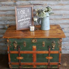 Antique Steam Trunk turned coffee table