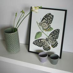 Vas cilindric ceramica verde | Combic