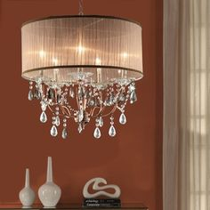 Six Light Chrome Drum Shade Chandelier 83144 Kirby Risk Modern Kitchen Pinterest And Drums