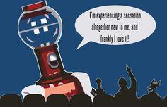Robot Roll Call!  Tom Servo digital illustration.