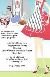 BBQ Couple - Engagement Party Invitations