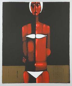 Jerzy Nowosielski (1923-2011) | Pływaczka w białym kostiumie, 1999