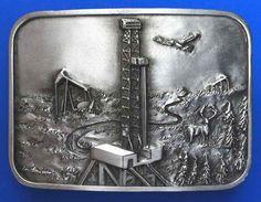 buy oilfield belt buckles drill bit rig oil gas industry christmas gifts oilfield trash belt