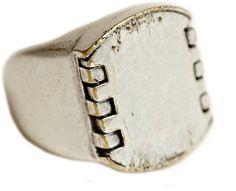 Maison Martin Margiela   Mens Silver Panel Chunk Ring