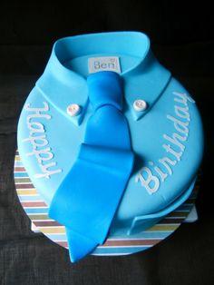 torten für männer geschäftsmann-blau-hemd-krawatte