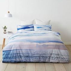 BEACH WAVES OCEAN SEA surf KING bed QUILT DOONA COVER SET NEW