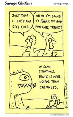 Freak Out Cartoon Savage Chickens, Freak Out, Sticky Notes, Grief, Cool Stuff, Funny Stuff, The Creator, Thankful, Jokes