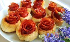 Listové - salámové růže | NejRecept.cz 20th Birthday, Mini Cupcakes, Holidays And Events, Finger Foods, Food Art, Catering, Cheesecake, Food And Drink, Pizza