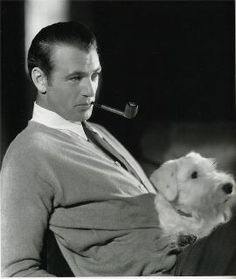 Gary Cooper & his Sealyham Terrier. Seems like the sealy were the go to dog for the movie stars of the and Gary Cooper, Sealyham Terrier, Welsh Terrier, Old Hollywood Stars, Classic Hollywood, Hollywood Actor, Vintage Hollywood, Cary Grant, John Wayne
