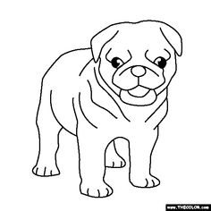 Cute Printable Pug Coloring Page by The Inky Octopus. Visit ...