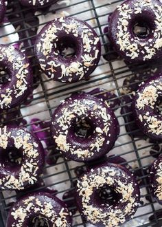 An easy recipe for perfectly moist and flavorful Baked Ube Coconut Doughnuts. They& the perfect complement to your morning coffee! Pinoy Dessert, Filipino Desserts, Asian Desserts, Filipino Recipes, Easy Desserts, Dessert Recipes, Filipino Food, Filipino Dishes, Filipino Bread Recipe