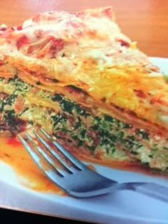 Easy crockpot recipes: Lasagna Spinach Pie Crockpot Recipe