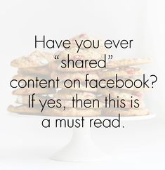 Important Info About Sharing on Facebook