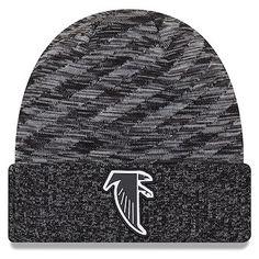885f98aa2ee Men s Atlanta Falcons New Era Black 2018 NFL Sideline Cold Weather Official  Historic TD Knit Hat