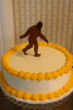 Bigfoot Sasquatch cake topper