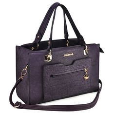Sally Young Classic Handbag With Croco Pocket - Purple Classic Handbags, Young Designers, Sally, Really Cool Stuff, Latest Fashion, Pocket, Purple, Collection, Purple Stuff