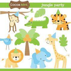 jungle animals clipart - Google Search