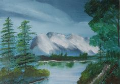 Mountain Lake, 11X14, acrylic on canvas