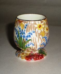 Vintage Egg Cup English Chintz Royal Winton 'Marguerite' Footed Egg Cup - 1930's on Etsy, $82.37 CAD