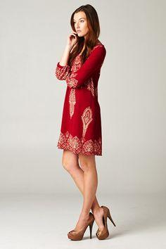 Margaret Dress in Ruby