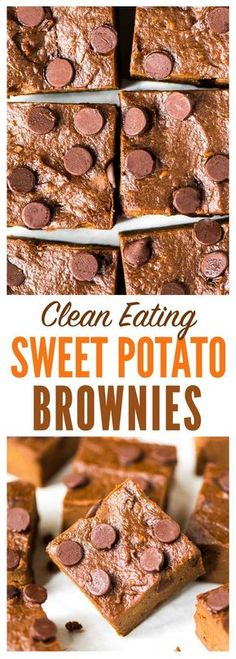Sweet Potato Brownies. DELICIOUS and fudgy! Clean eating recipe — NO BUTTER and SUGAR FREE. Easy, healthy, and kids love them too! Recipe at wellplated.com | @wellplated