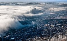 """Pyatigorsk"" Russian cities covered feel (Apocalypse) Apocalypse, the clouds"