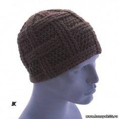 Вяжем мужскую шапку