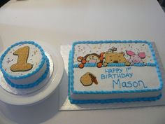 Winnie The Pooh First Birthday  on Cake Central