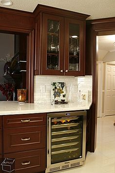 Great Contemporary Bar - Zillow Digs subway tile