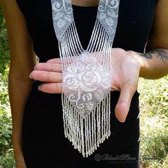 Bead Embroidery Jewelry, Beaded Jewelry Patterns, Fabric Jewelry, Beaded Embroidery, Bead Crafts, Jewelry Crafts, Handmade Jewelry, Bead Jewellery, Seed Bead Jewelry