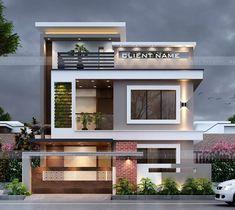 Modern Small House Design, Modern Exterior House Designs, Modern House Facades, Latest House Designs, Dream House Exterior, Minimalist House Design, 3 Storey House Design, Bungalow House Design, House Front Design
